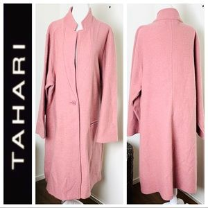 Brand NEW TAHARI Long CARDIGAN COAT Coatigan